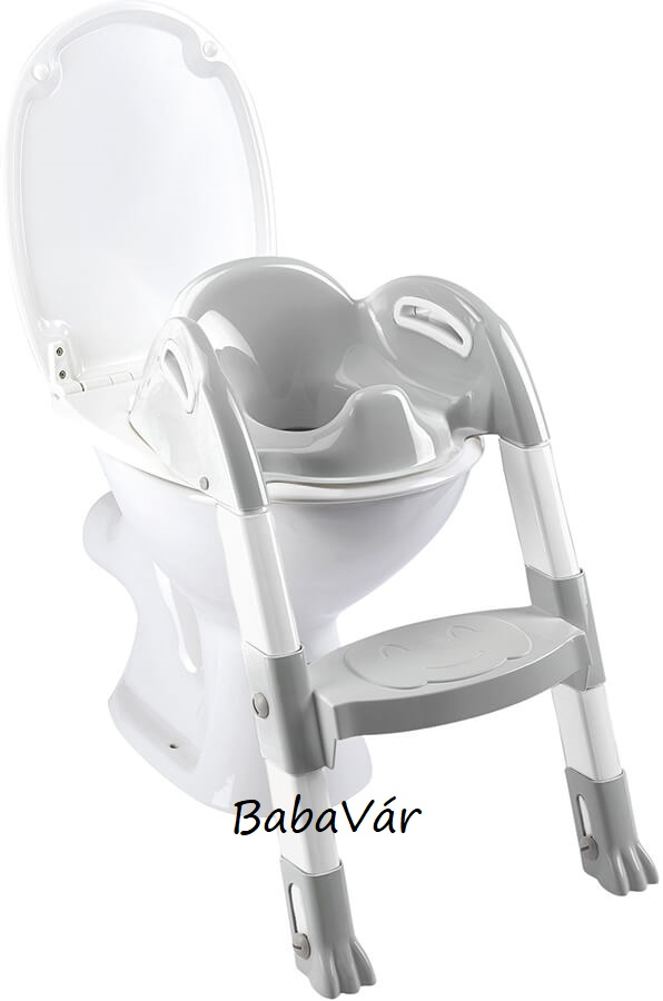 "Thermobaby  ""Kiddyloo"" lépcsős wc szűkítő  white/ grey"
