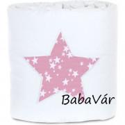 BabyBay Trend bölcsőhöz rózsaszín csillagos  fejvédő
