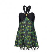 Alakformáló női fürdőruha variálható vállpánttal /ruha Páva