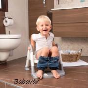 Rotho Kids Kit 3 az 1-ben wc szűkítő, fellépő és bili fehér/szürke