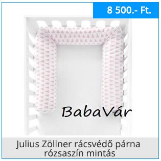 Julius Zöllner rácsvédő párna rózsaszín mintás