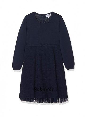 Happy Girls kék kötött / tüll alsószoknyás  kislány ruha alkalomra is
