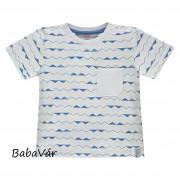 Kanz fehér kék vonalas póló