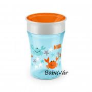 Nuk Magic Cup első tanuló ivópohár kék csillagok és rákok