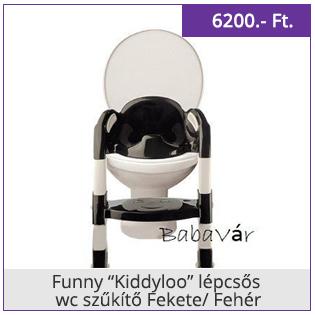 """Funny """"Kiddyloo"""" lépcsős wc szűkítő Fekete/ Fehér"""