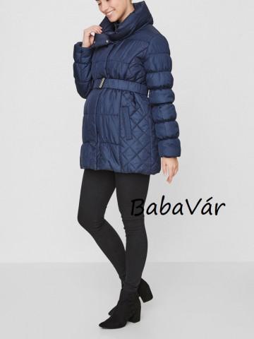 Mama Licious Zita kék kismama kabát rövid