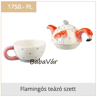 Flamingós teázó szett
