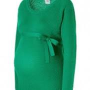 Mama Licious Crystaline  kötött zöld megkötős kismama pulóver