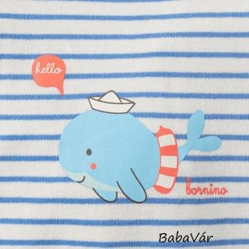 Bornino Seaside kék fehér bálnás napozó