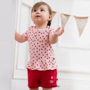Bornino Ladybug rózsaszín katicás rövid ujjú poló