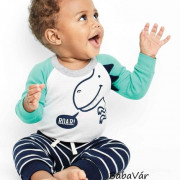 Carters pamut kék csíkos baba nadrág