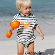 Lassig csíkos rövid ujjú UV szűrős úszópóló