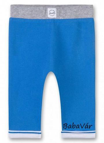 Sanetta kék pamut passzés babanadrág