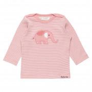 Sense Organics Luna rózsaszín csíkos elefántos babafelső