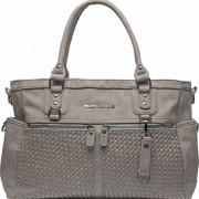 Little Company Pelenkázó táska Monaco Braided taupe, fonott, szürke-barna