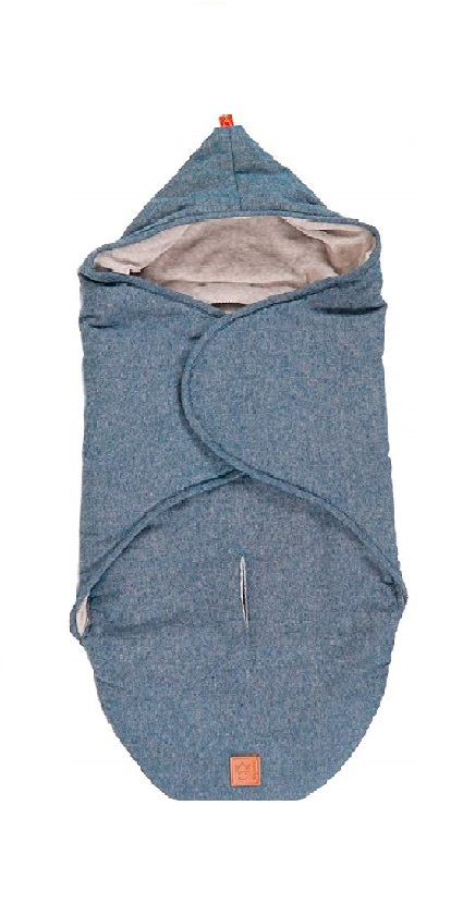 Kaiser zsáktakaró autós hordozóba / mózesbe kék melange