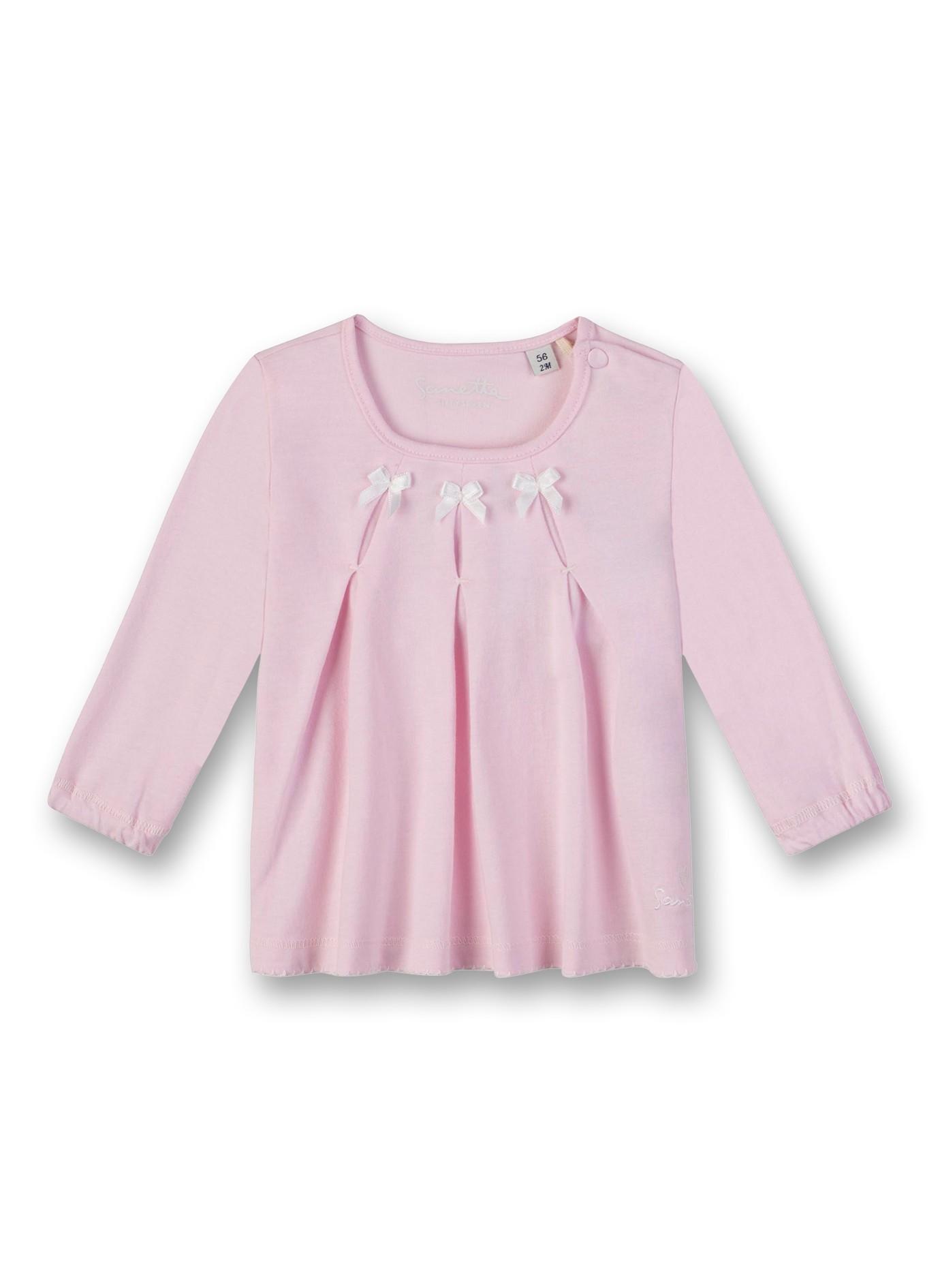 Sanetta rózsaszín masnis hosszú ujjú tunika