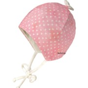Maximo rózsaszín szivecskés pamut újszülött sapka