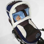 Knorr barna kék lábzsákká alakítható mózeskosár