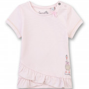 Sanetta rózsaszín csíkos kislány poló