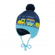 Maximo kék kötött vonatos  sapi