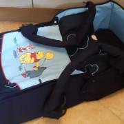 Esprit sötétkék bundazsákká alakítható textilmózes