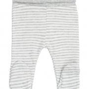 Fixoni szürke csíkos lábfejes baba nadrág