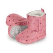 Sterntaler rózsaszín szívecskés szőrmés babacsizma