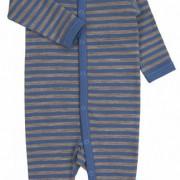 Joha barna kék csíkos gyapjú rugi/kezeslábas