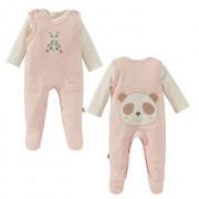 Bornino Panda Time rózsaszín pamut rugi szett