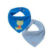 Bornino Happy Days kék békás kétoldalas sálkendő/nyálzókendő