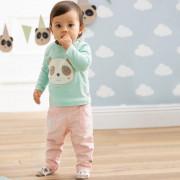 Bornino Panda time Hello kifordítható pamut babanadrág