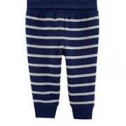 Carters pamut kék csíkos vastag baba nadrág