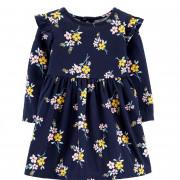 Carters  hosszú ujjú kék kislány ruha kisbugyival