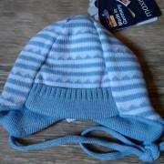 Maximo kék csíkos kötött babasapi