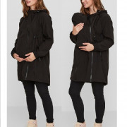 Mama Licious  Shella Tikka 3 az 1-ben  kismama téli kabát fekete