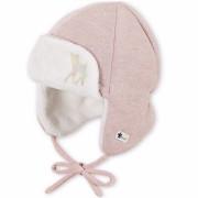 Sterntaler szörmés őzikés rosa téli babasapka
