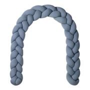 Nordic coast company  rácsvédő párna bölcsőbe / kiságyba kék fonott